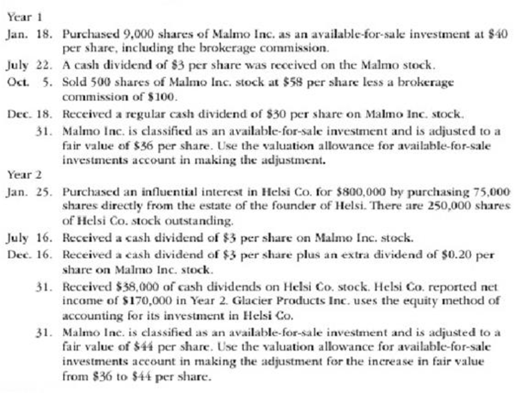 Chapter 15, Problem 3PB, Glacier Products Inc. is a wholesaler of rock climbing gear. The company began operations on January