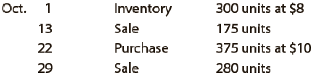 Chapter 7, Problem 4PEB, Beginning inventory, purchases, and sales for WCS12 are as follows: Assuming a perpetual inventory