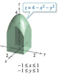 Chapter 14, Problem 19RE, Finding VolumeIn Exercises 1720, use a double integral to find the volume of the indicated solid.