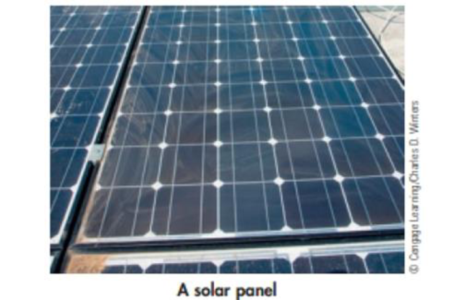 Chapter 1, Problem 12PS, A solar panel is pictured in the photo. When light shines on the panel, it generates an electric