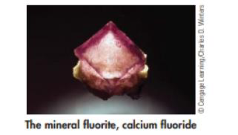Chapter 1, Problem 19GQ, The mineral fluorite contains the elements calcium and fluorine and can have various colors,