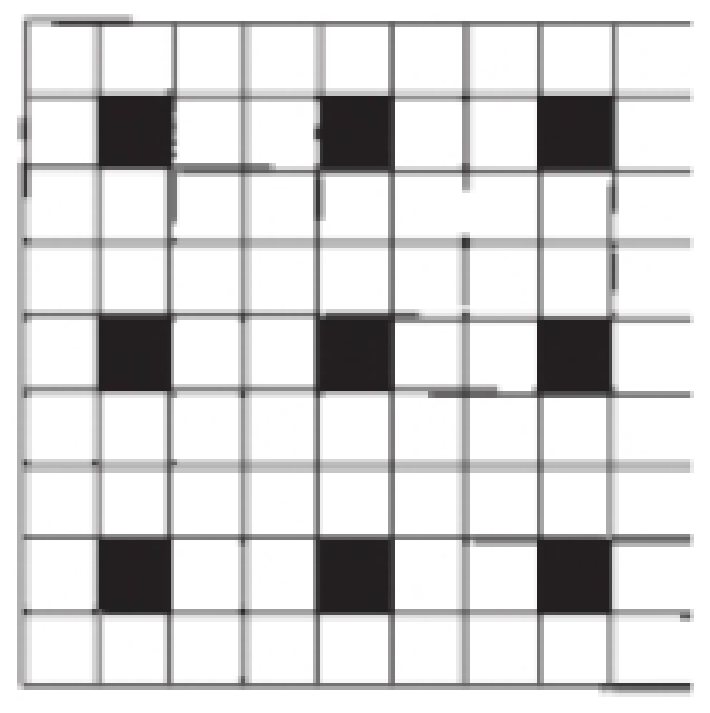 Chapter 12, Problem 1PS, Outline a two-dimensional unit cell for the pattern shown here. If the black squares are labeled A