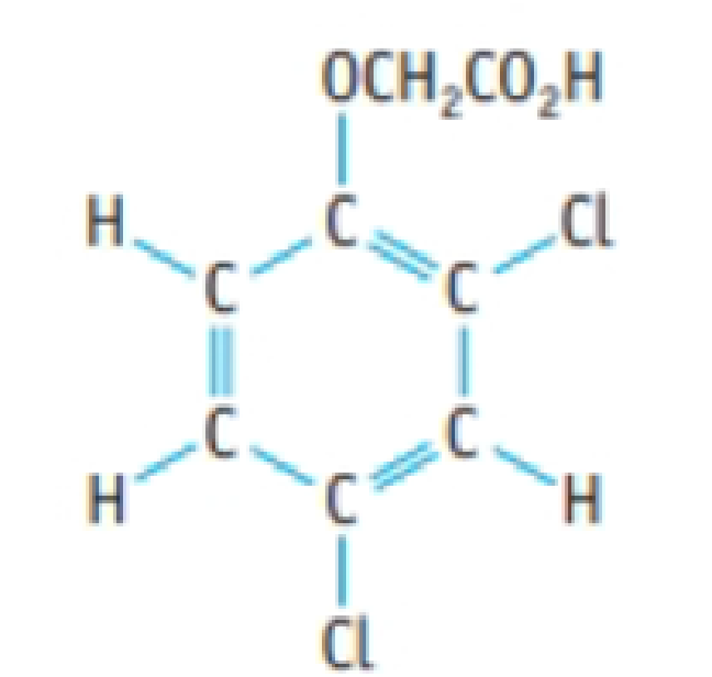Chapter 4, Problem 129IL, A herbicide contains 2,4-D (2,4-dichlorophenoxyacetic acid), C8H6Cl2O3. A 1.236-g sample of the