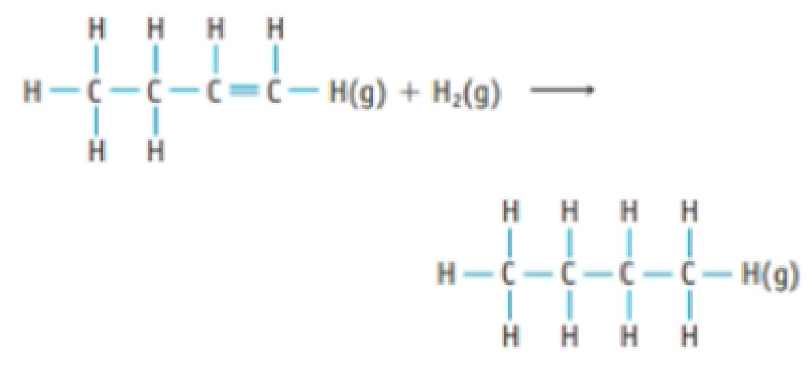 Chapter 8, Problem 53PS, Hydrogenation reactions, which involve the addition of H2 to a molecule, are widely used in industry