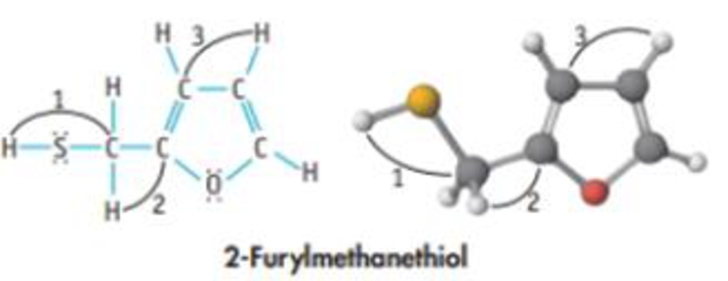 Chapter 8, Problem 82GQ, The molecule shown here. 2-furylmelhanethiol, is responsible for the aroma of coffee: (a) What are