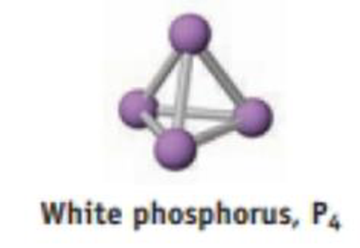 Chapter 8, Problem 95SCQ, White phosphorus exists as P4 molecules with phosphorus atoms at the corners of a tetrahedron. (a)