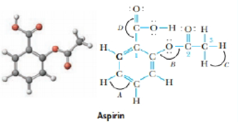 Chapter 9, Problem 38GQ, The compound sketched below is acetylsalicylic acid, commonly known as aspirin. (a) What are the