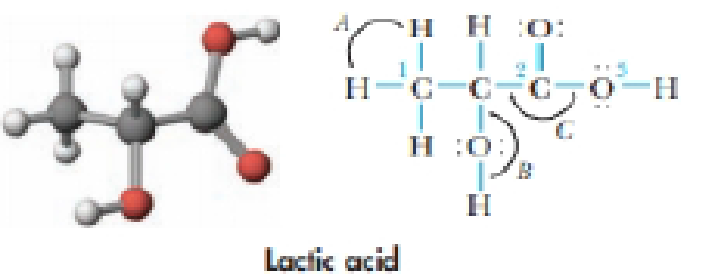 Chapter 9, Problem 40GQ, Lactic acid is a natural compound found in sour milk. (a) How many  bond occur in lactic acid? How