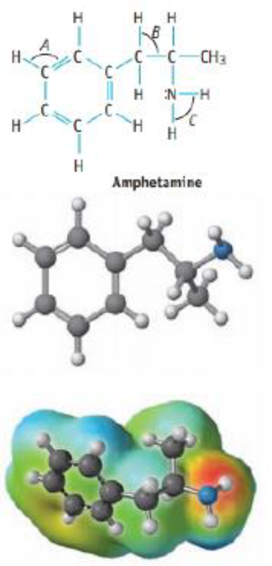 Chapter 9, Problem 48GQ, The structure of amphetamine, a stimulant, is shown below. (Replacing one H atom on the NH2, or