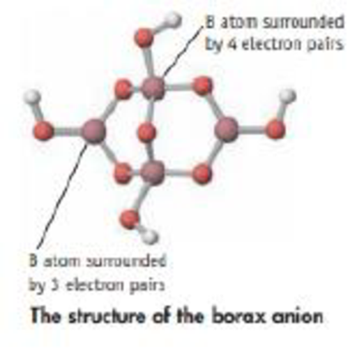 Chapter 9, Problem 67SCQ, Borax has the molecular formula Na2B4O5(OH)4. The structure of the anion in this compound is shown