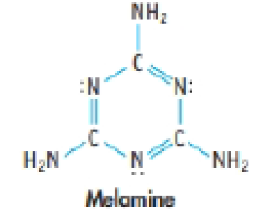 Chapter 9, Problem 70SCQ, Melamine is an important industrial chemical, used to make fertilizers and plastics. (a) The