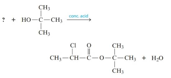 Chapter 20, Problem 146CP, . Esterification reactions are carried out in the presence of a strong acid such as H2SO4. A