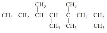 Chapter 20, Problem 25QAP, . Give the systematic name for each of the following branched alkanes. a. b. c. d. , example  3