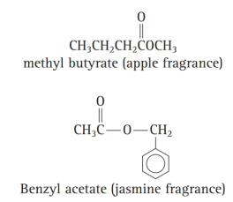Chapter 12, Problem 55E, Suppose a perfume contained the following two compounds. What would the initial fragrance be? How