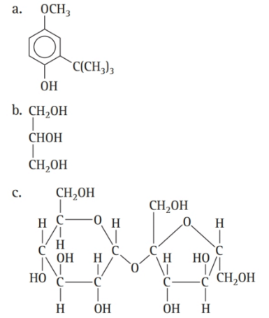 Chapter 16, Problem 45E, Which molecule is a triglyceride? , example  1