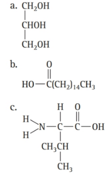 Chapter 16, Problem 46E, Which molecule is a triglyceride? , example  1