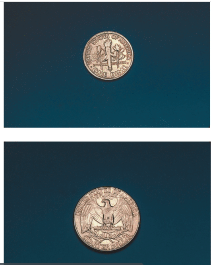 Chapter 2, Problem 53E, Each of the following coins is photographed to scale. Measure each using a metric ruler (in cm) and , example  3