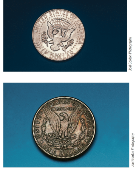 Chapter 2, Problem 53E, Each of the following coins is photographed to scale. Measure each using a metric ruler (in cm) and , example  4