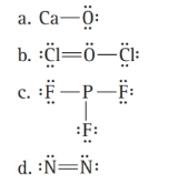 Chapter 5, Problem 25E, What is wrong with each Lewis structure? Fix the problem and write a correct Lewis structure.