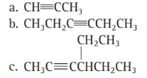 Chapter 6, Problem 47E, Name each alkyne:
