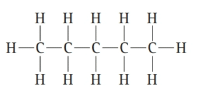 Chapter 6, Problem 68E, Any one molecule can be represented many ways. For example, pentane can be represented as: