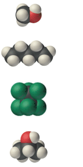 Chapter 6, Problem 70E, Look at each of the following space-filling molecular images of various compounds and decide which,