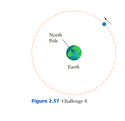Chapter 2, Problem 8C, A 200-k.g communications satellite is placed into a circular orbit around Earth with a radius of