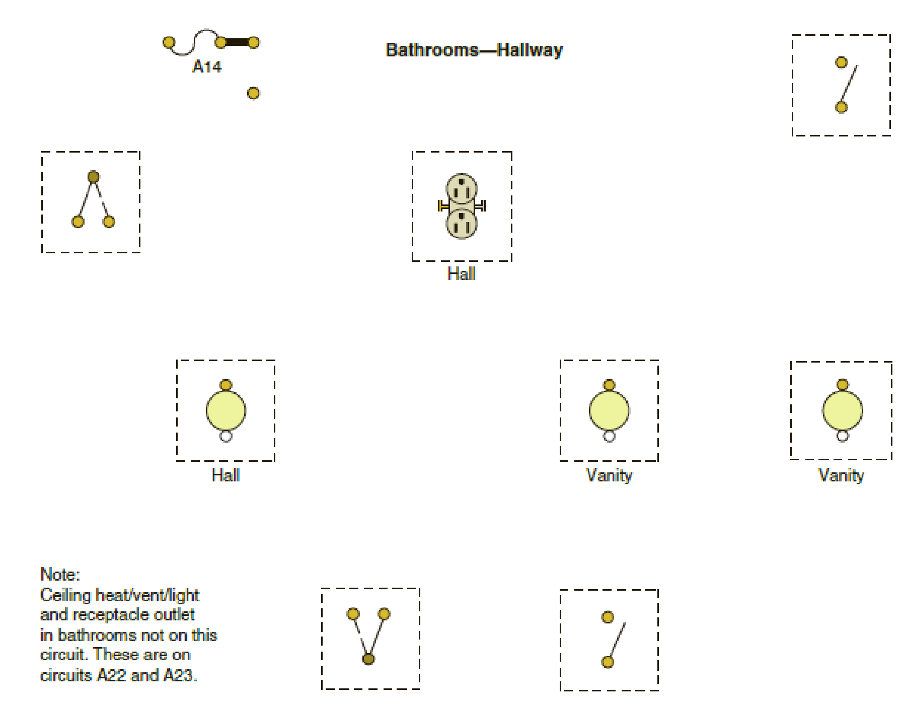 bathroom wiring diagram the following is a layout of a lighting circuit for the bathroom diagrams for wiring bathroom fan and lights layout of a lighting circuit