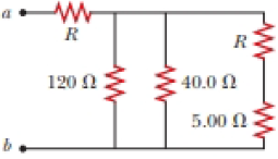 Chapter 28, Problem 28.56AP, The resistance between terminals a and b in Figure P27.36 is 75.0 . If the resistors labeled R have