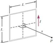Chapter 30, Problem 30.76CP, A wire is formed into the shape of a square of edge length L (Fig. P29.50). Show that when the