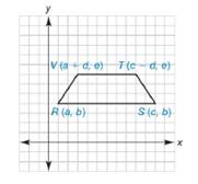 Chapter 10.2, Problem 39E, Show that quadrilateral RSTV is an isosceles trapezoid.
