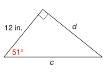 Chapter 11.2, Problem 21E, In Exercise 17 to 22, use either the sine ratio or the cosine ratio to find the length of the