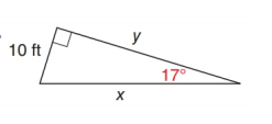 Chapter 11.2, Problem 22E, In Exercise 17 to 22, use either the sine ratio or the cosine ratio to find the length of the