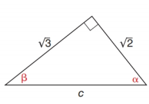 Chapter 11.2, Problem 25E, In Exercise 23 to 28, use either the sine ratio or the cosine ratio as needed to find the measure of