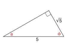 Chapter 11.2, Problem 26E, In Exercise 23 to 28, use either the sine ratio or the cosine ratio as needed to find the measure of