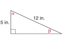 Chapter 11.2, Problem 27E, In Exercise 23 to 28, use either the sine ratio or the cosine ratio as needed to find the measure of