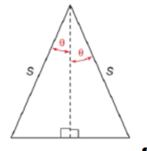 Chapter 11.2, Problem 41E, Use the drawing provided to show that the area of the isosceles triangle is A=s2sincos
