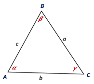 Chapter 11.CT, Problem 17CT, On the basis of the drawing provided, complete this form Of the Law of Cosines. a2=_________