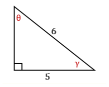 Chapter 11.CT, Problem 9CT, In the drawing provided, find the measure of  to the nearest degree.