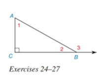 Chapter 2.4, Problem 24E, Given: Right ABC with right C m1=7x+4m2=5x+2 Find: x