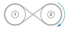 Chapter 2.6, Problem 23E, In which direction clockwise or counterclockwise will pulley 1 rotate if pulley 2 rotates in the , example  2