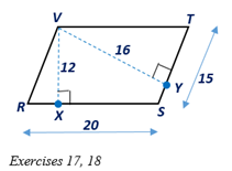 Chapter 4.1, Problem 17E, In Exercises 17 and 18, consider with VX-  RS- and VY- ST-. a Which line segment is the altitude of , example  4