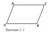 Chapter 4.1, Problem 2E, ABCD is a parallelogram. a Using a ruler, compare the lengths of sides AD- and BC-. b Using a