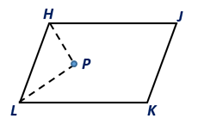 Chapter 4.1, Problem 35E, The bisectors of two consecutive angles of  HJKL are shown. What can you conclude regarding P?