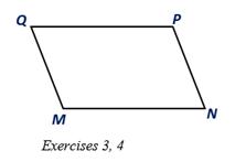 Chapter 4.1, Problem 3E, MNPQ is a parallelogram. Suppose that MQ=5, MN=8, and mM=1100. Find: a QP c mQ b NP d mP