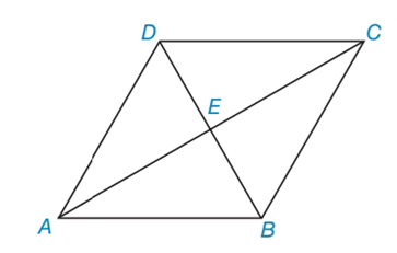Chapter 4.3, Problem 17E, In Exercises 15 to 18, consider rhombus ABCD with diagonals ACandDB. When the answer is not a whole