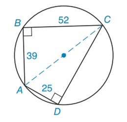 Chapter 4.3, Problem 27E, Find the perimeter of the cyclic quadrilateral shown.