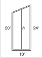Chapter 4.4, Problem 23E, Each vertical section of a suspension bridge is in the shape of a trapezoid. For additional support,