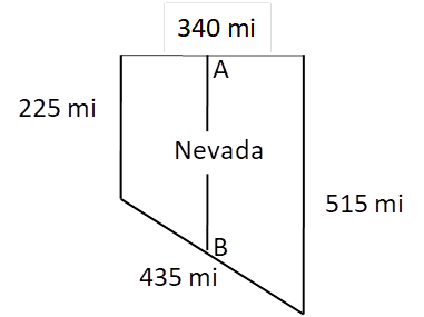 Chapter 4.4, Problem 24E, The state of Nevada approximates the shape of a trapezoid with these dimensions for boundaries: 340
