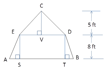 Chapter 4.4, Problem 37E, In a gambrel style roof, the gable end of a barn has the shape of an isosceles trapezoid surmounted